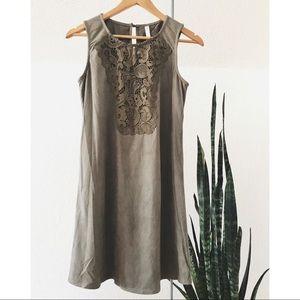Suede Green Dress